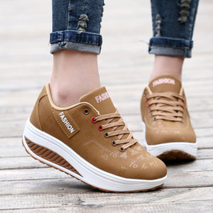 DUOYANG  women's casual shoes  waterproof wedges platform shoes