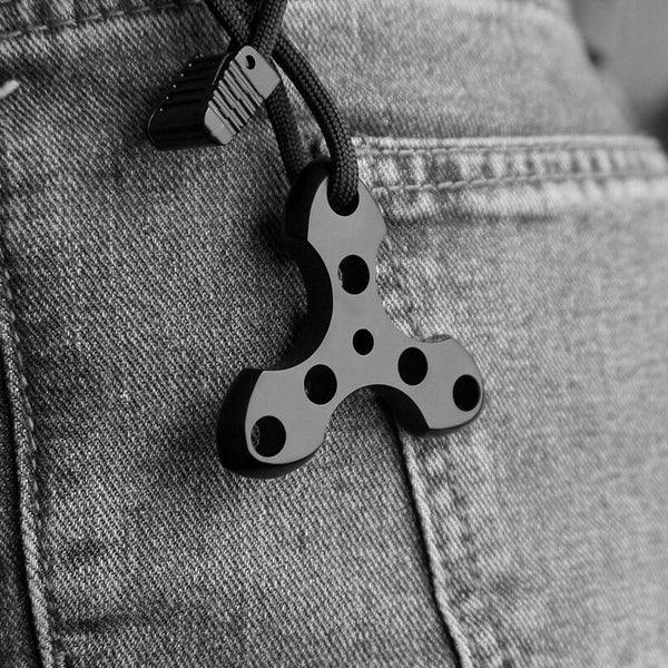 Lightweight high strength titanium alloy (TC4), outdoor EDC pocket or key chain perfect tool.Beautiful pendant - hue and shades