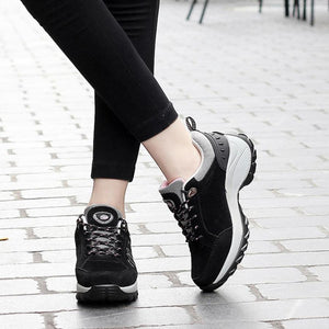 ISHOWTIENDA Comfortable Super Light Athletic Nubuck Leather Ladies Sports  Shoes Affordable women's shoes just under 50 dollars