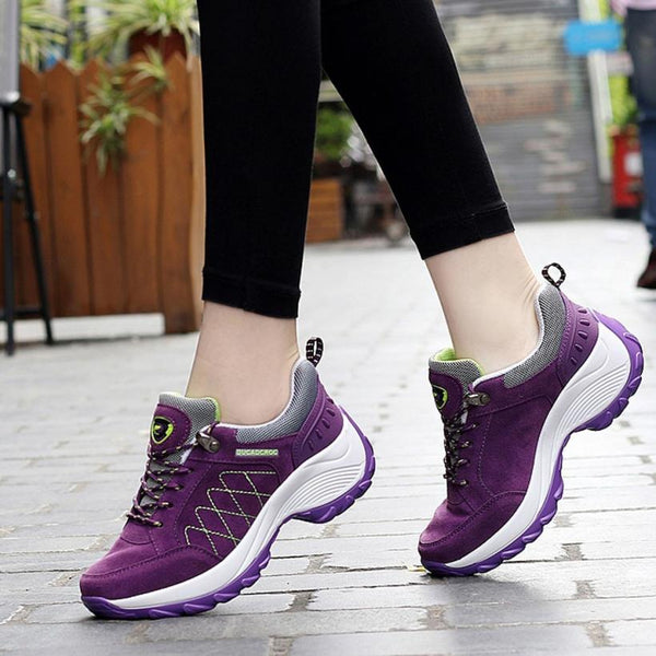 ISHOWTIENDA Comfortable Super Light Athletic Nubuck Leather Ladies Sports  Shoes Affordable women's shoes