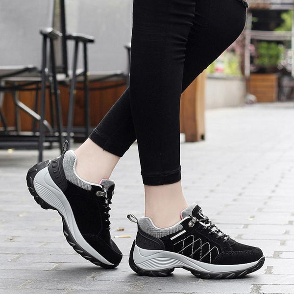 ISHOWTIENDA Comfortable Super Light Athletic Nubuck Leather Ladies Sports  Shoes  under 50 dollars