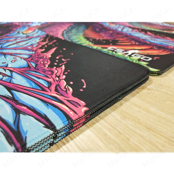 MaiYaCa Hyper beast CS GO Large Mouse Pad edge closeup