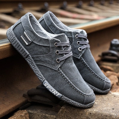 Plimsolls Denim Lace-up Canvas Shoes