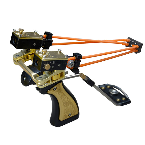 Powerful Slingbow DIY Catapult Design with High Velocity Rubber Bands for Longbow Range Like Shooting