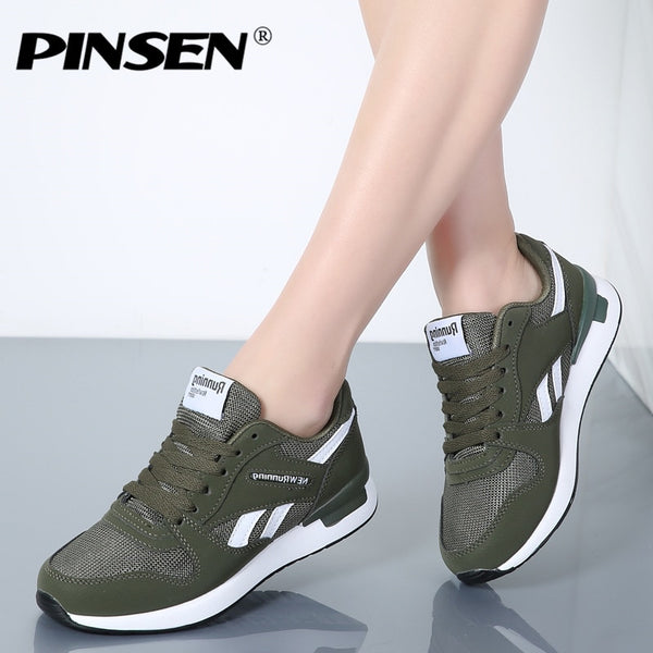 PINSEN Sneakers Unisex Spring Casual Shoes Basket Flats