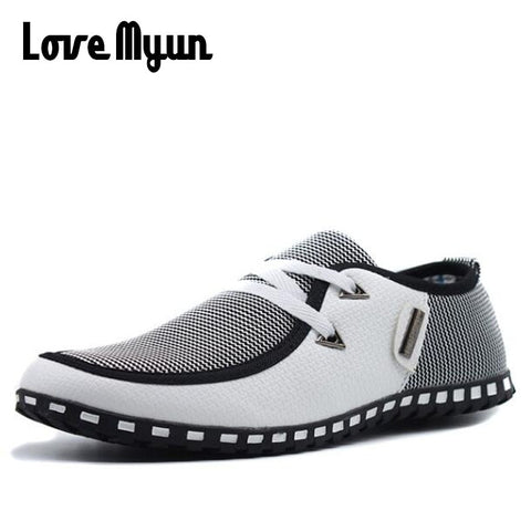 Love Myun Men's Flats Boat Shoes
