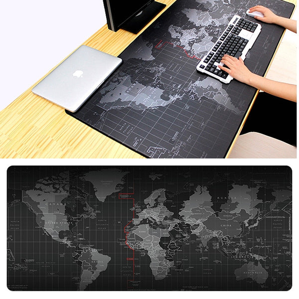 Extra Large Gaming Mouse Pad Old World Map Mousepad Anti-slip