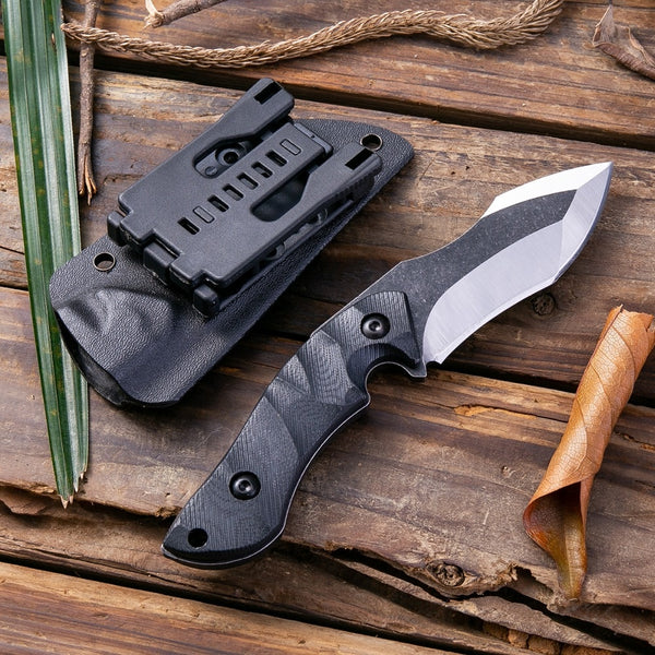 scratch proof tactical fixed blade knife with holster holder
