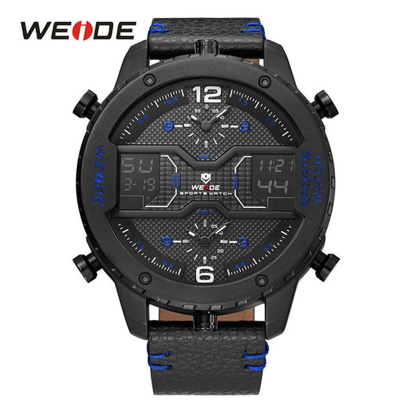 WEIDE men's Sports watch  Brown Leather Strap