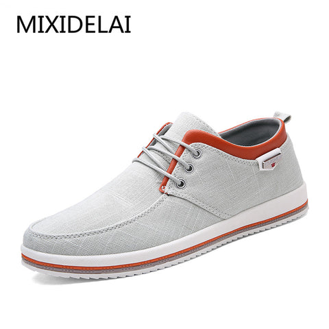 MIXIDELAI Men's Flats Handmade Moccasins Shoes for Male