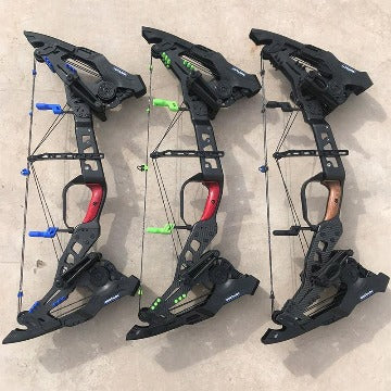 kresis compound bow color variant Blue green black