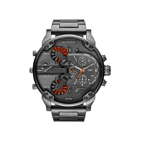 JinDiLong Big Dial Military Sport Stainless Steel Casual  Metal Wristwatch