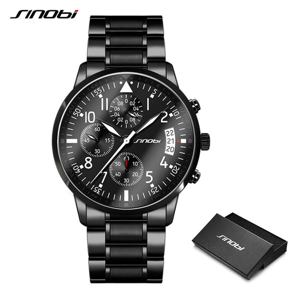 SINOBI Stainless Steel Air Watches