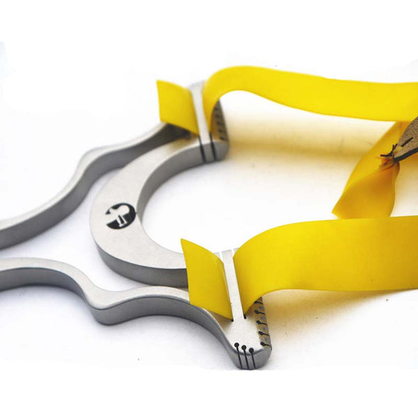 2 in 1 hunting slingshot catapult yellow flat rubber band
