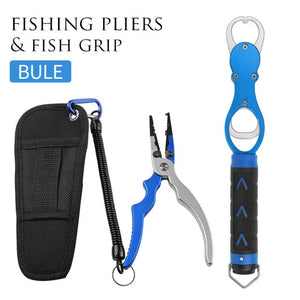 Aluminum Alloy Fishing Grip & Pliers Fish Gripper Hook Line Cutter