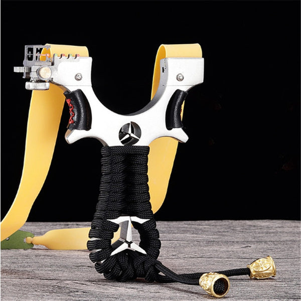 Powerful Hunting Slingshot Catapult with High Tension Rubber Band front view
