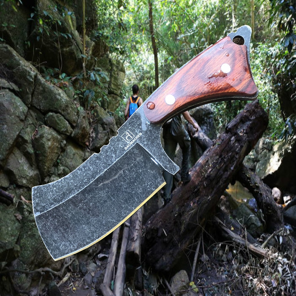 DAOMACHEN Stonewash blade Outdoor hunting Knife