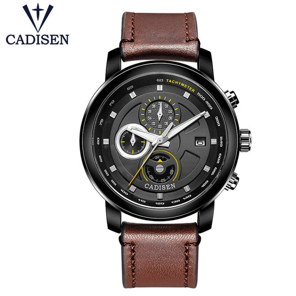 Cadisen Brown Leather Strap Air Watches