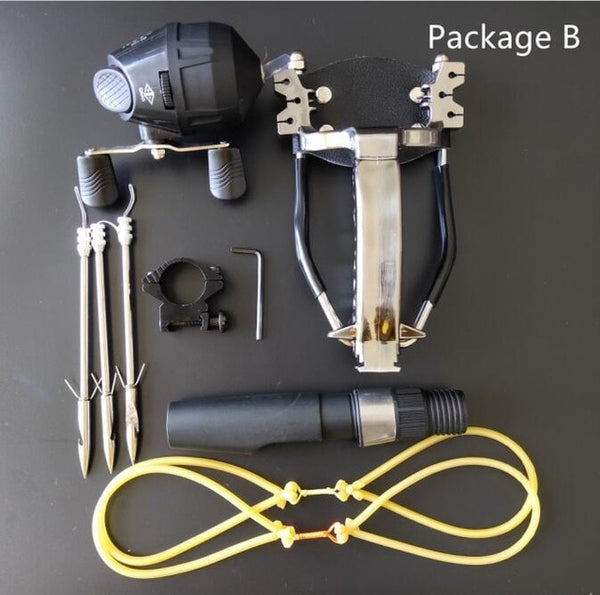Multi-function Bowfishing slingshot With Reel Mount and Fishing Darts