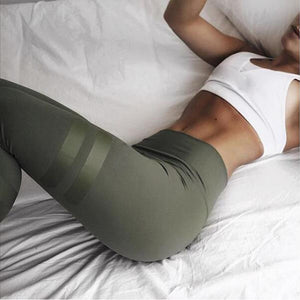 Women's Army Green Quick Dry High Waist Leggings