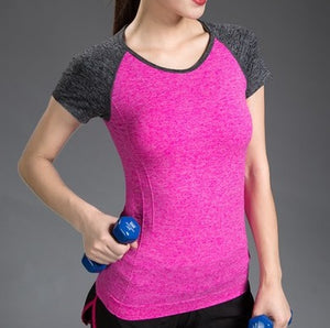 Women's Two Tone Tapered Gym T-Shirt