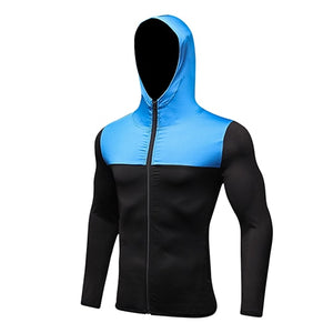 2018 Men's Hooded Rashguard Sports Jacket