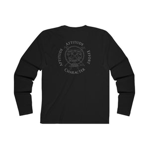 Academy 54 Long Sleeve Crew Tee - Black/Grey