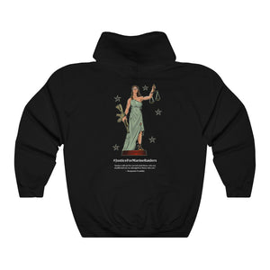 MARSOC Lady Justice ~ Hoodie (Ben Franklin Quote)