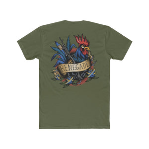 1st Law Enforcement Battalion Blue Renegade Rooster - Crew Tee