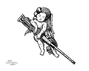 Cherub with .50 Cal Machinegun