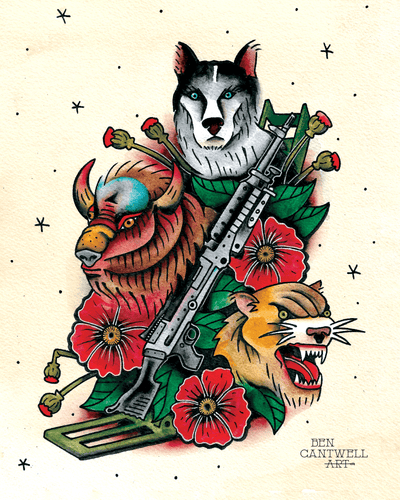 Machine Gun and Animals