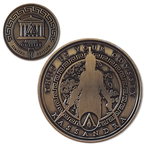 Kassandra<br>1.25 Inch Collector Coin - Assassin's Creed Odyssey