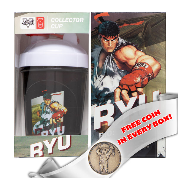 Ryu Collector Cup + Collector Coin<br> Street Fighter V Edition - 24oz