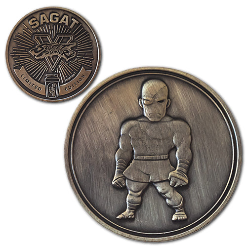 Sagat<br>1.25 Inch Collector Coin - Dropping Soon