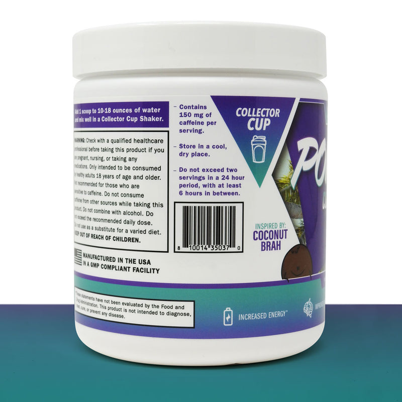 Power UP ENERGY POWDER - Coastline Colada - ONLY COMES WITH POWDER