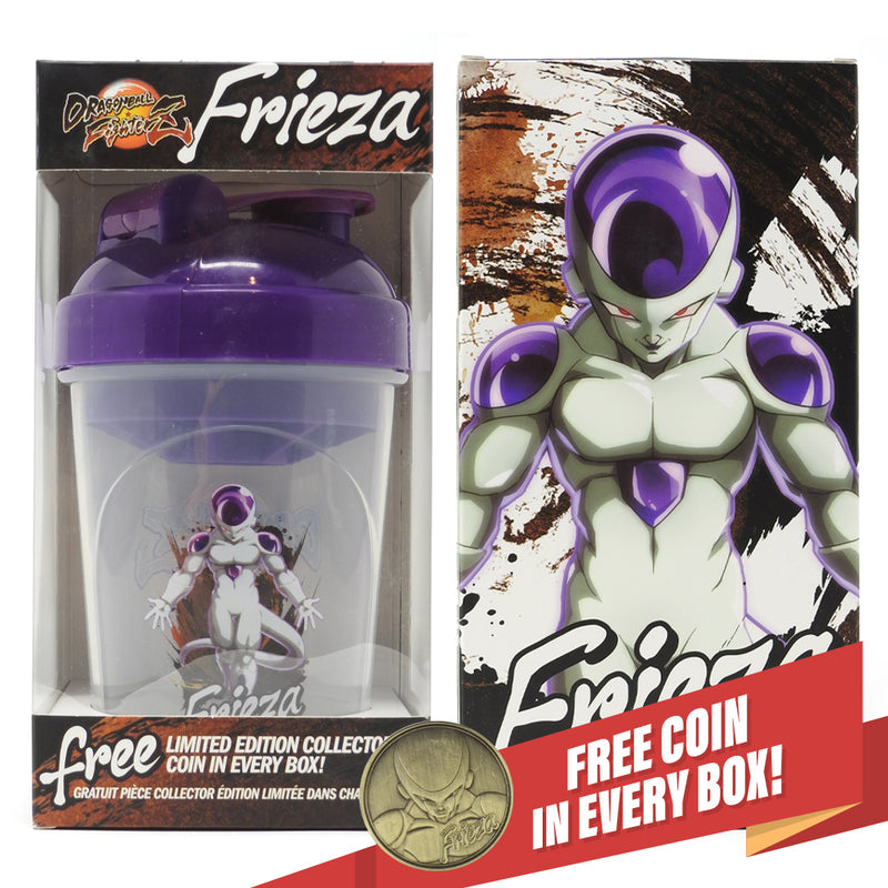 DRAGON BALL FIGHTERZ - FRIEZA COLLECTOR CUP + COLLECTOR COIN - TOEI COLLECTION - 24OZ
