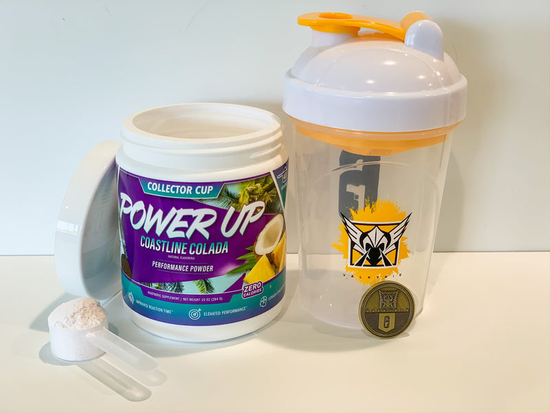 **HOT BUNDLE DEAL** - Power Up Coastline Colada ENERGY POWDER + Valkyrie 6-SIEGE COLLECTOR CUP