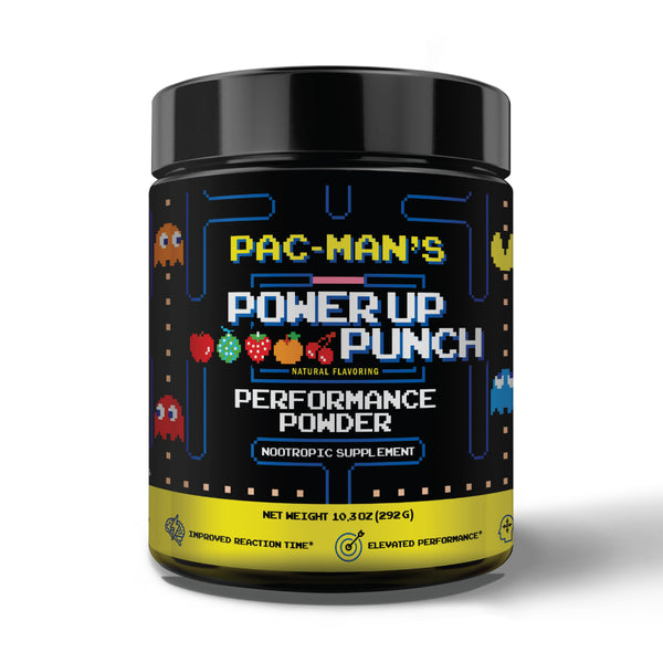 **HOT BUNDLE DEAL** - POWER UP PAC-MAN'S PUNCH ENERGY POWDER + PAC-MAN COLLECTOR CUP