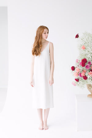 Simply White Night Dress