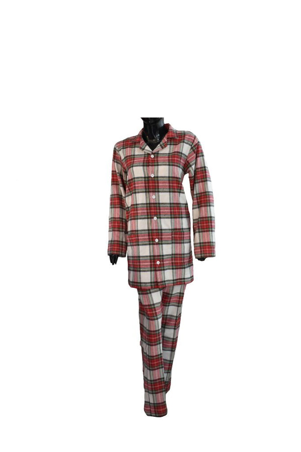 Red checked pyjamas