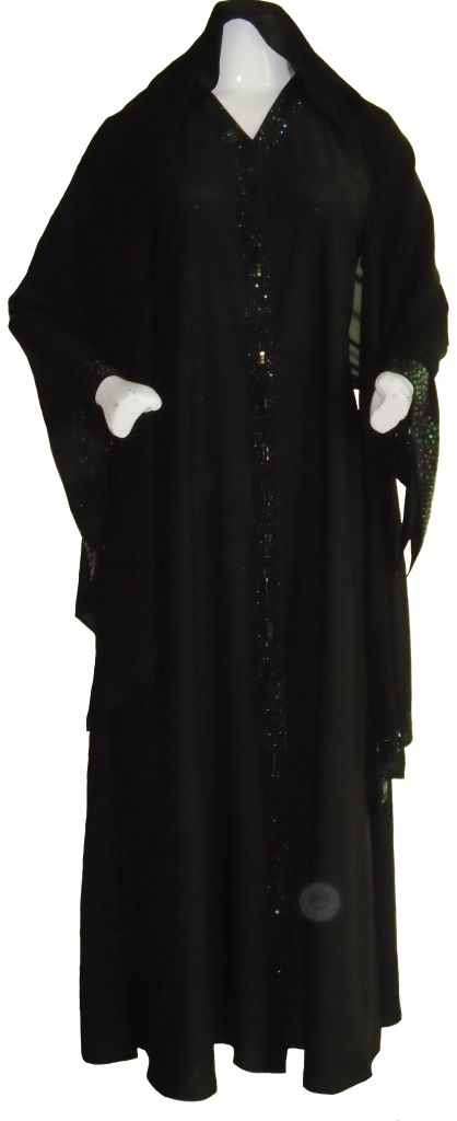 Black Evening Abaya