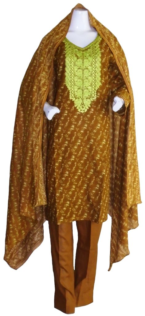 Brown Khadar Suit