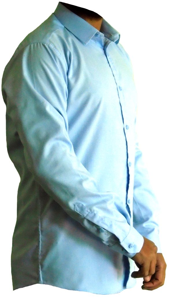 Sky Blue Pure Cotton Men's Shirt