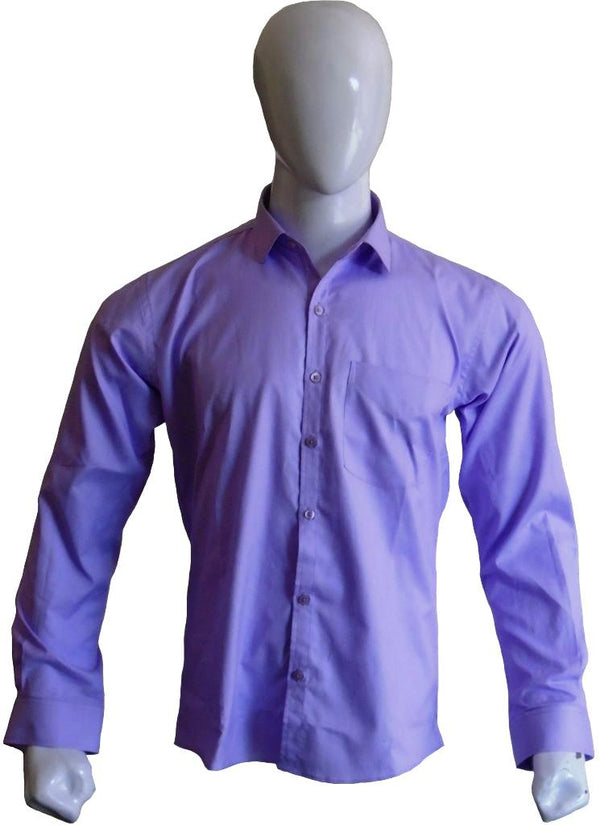 Purple Textured Formal Shirt