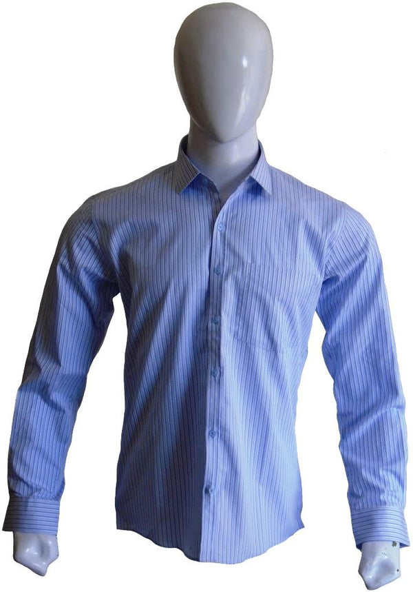 Light Blue Striped Formal Shirt