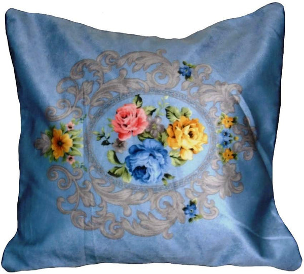 Floral Silk Cushion Cover