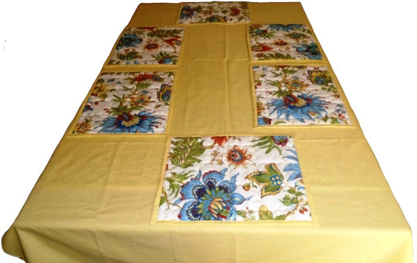 Pale Yellow Table Cloth Set