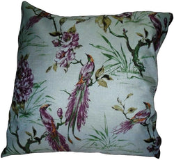 White Bird Pair of Cushions