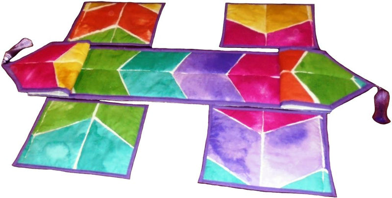 Tie and Dye Runner with Table Mats