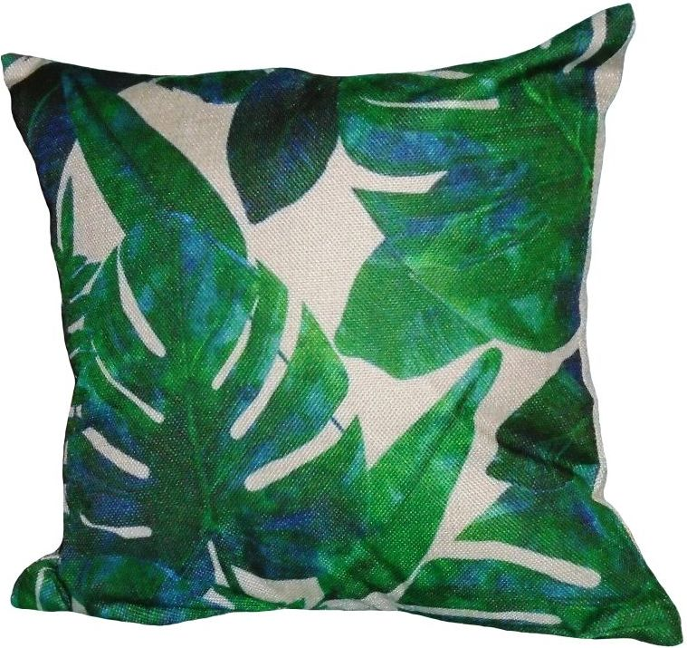 Tropical Leaf Pair of Cushions